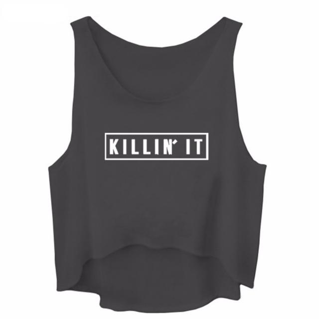 """""""KILLIN IT"""" cropped top"""