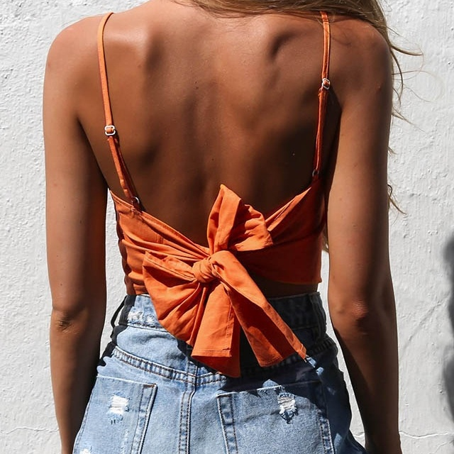 """Bow Tie Knot"" cropped top"